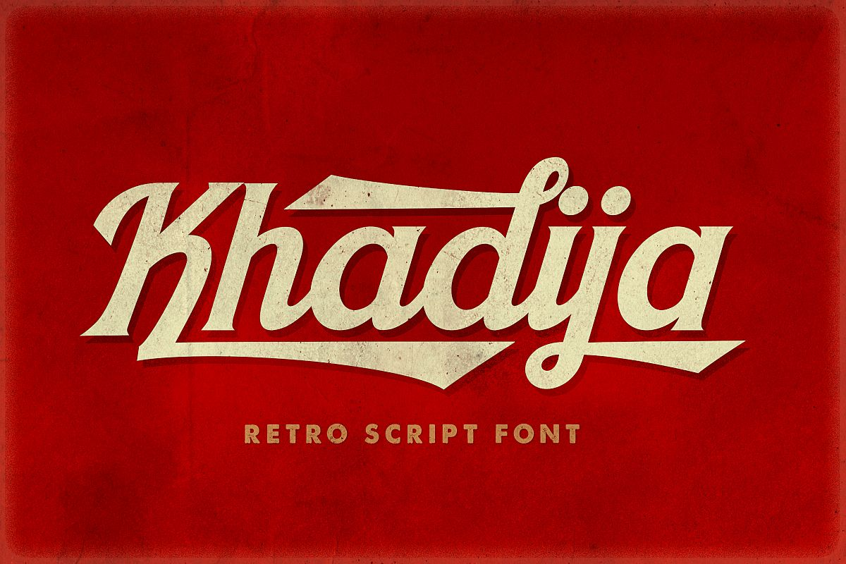 Khadija Script - 4 Fonts example image 1