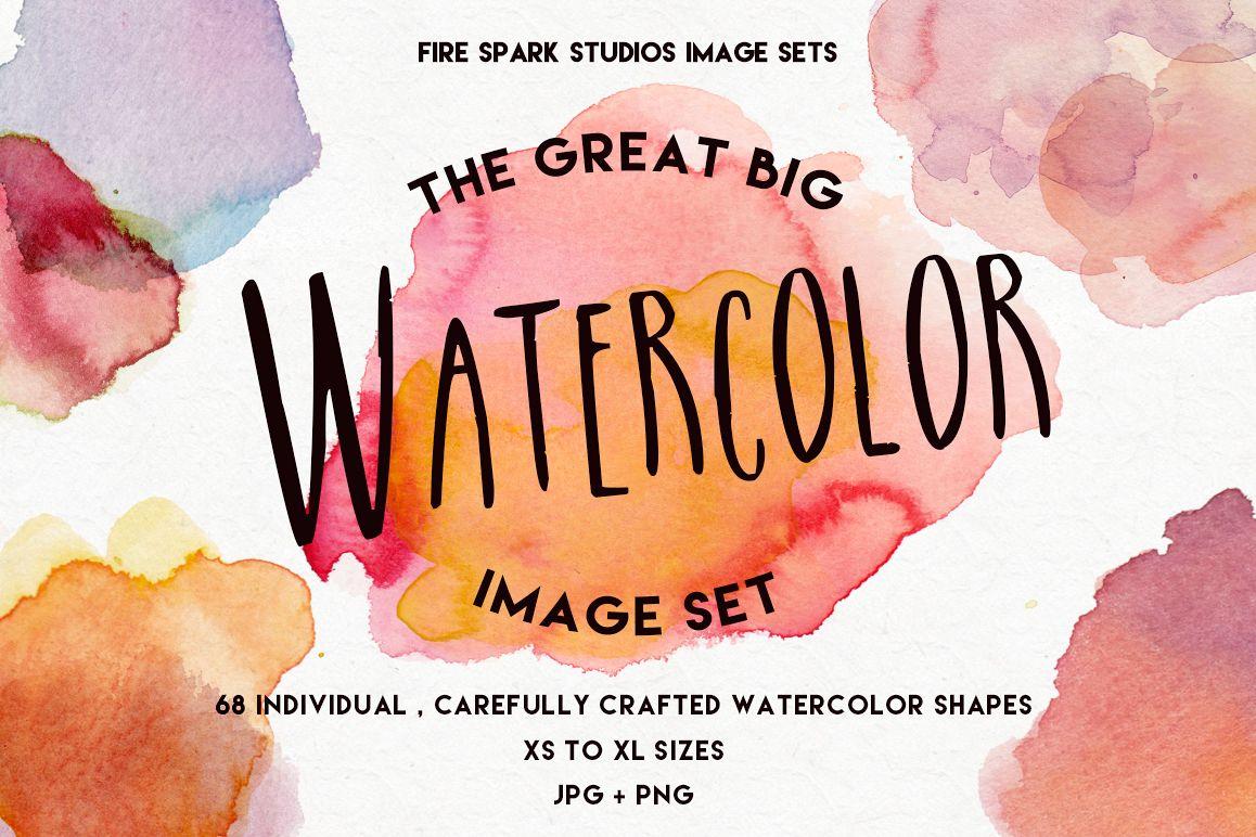 The Great Big Watercolor Image Set