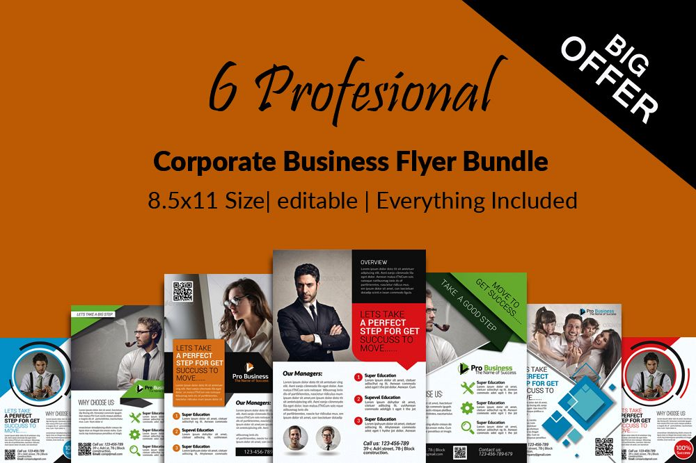 6 Multi Use Business Flyers Bundles example image 1