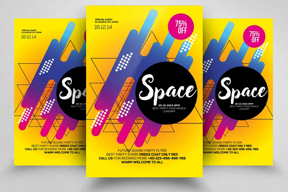 Space Futuristic Flyer/ Poster Template example image 1