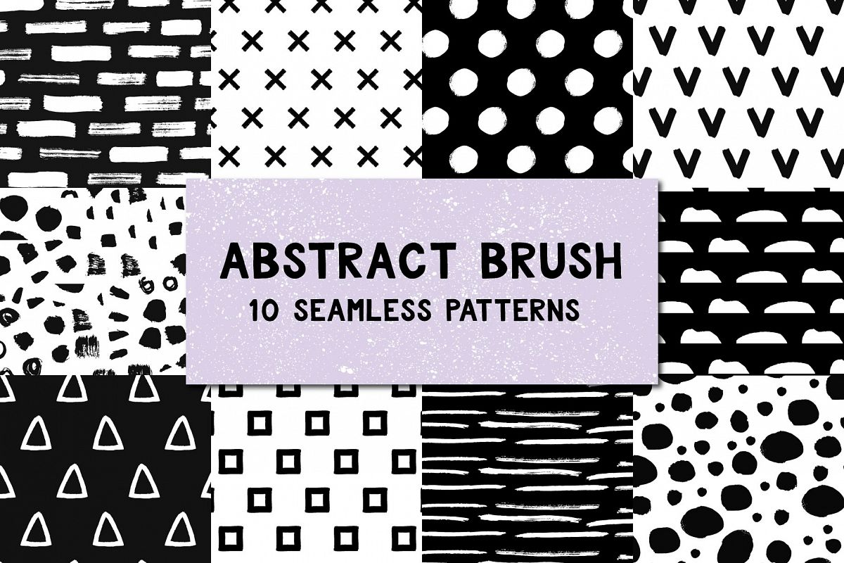 Abstract brush patterns example image 1
