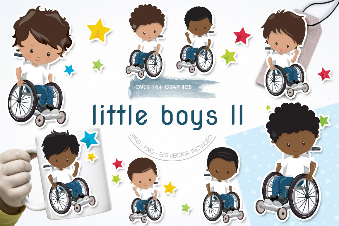 Little boys II graphics and illustrations example image 1