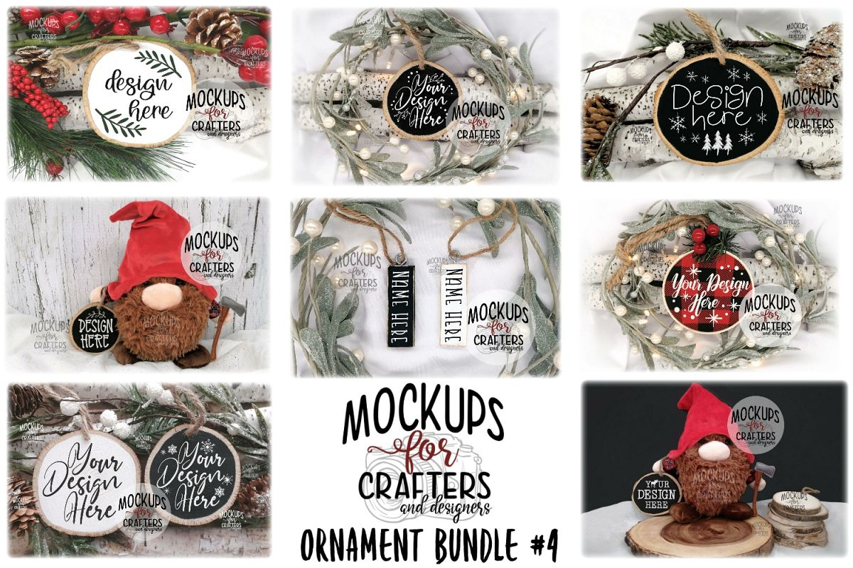 Ornament Bundle #4 - EIGHT ORNAMENT MOCK-UPS example image 1