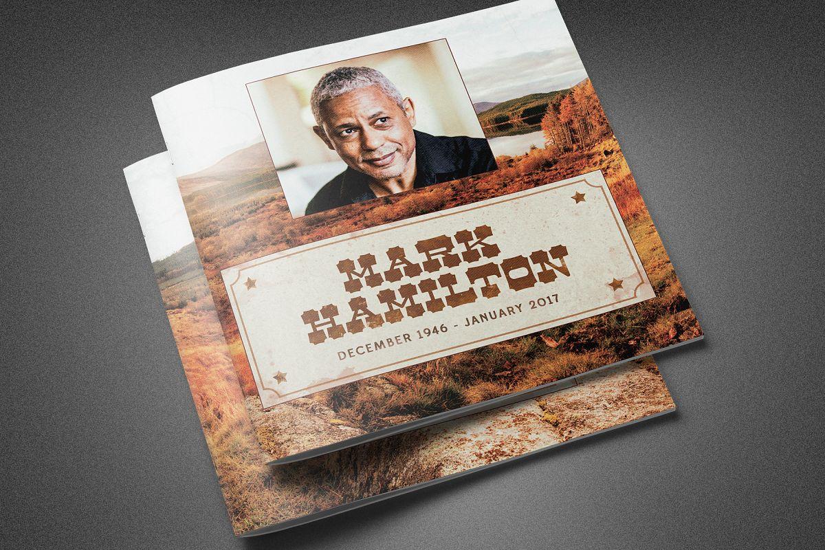 Rocky Mountain Funeral Program example image 1