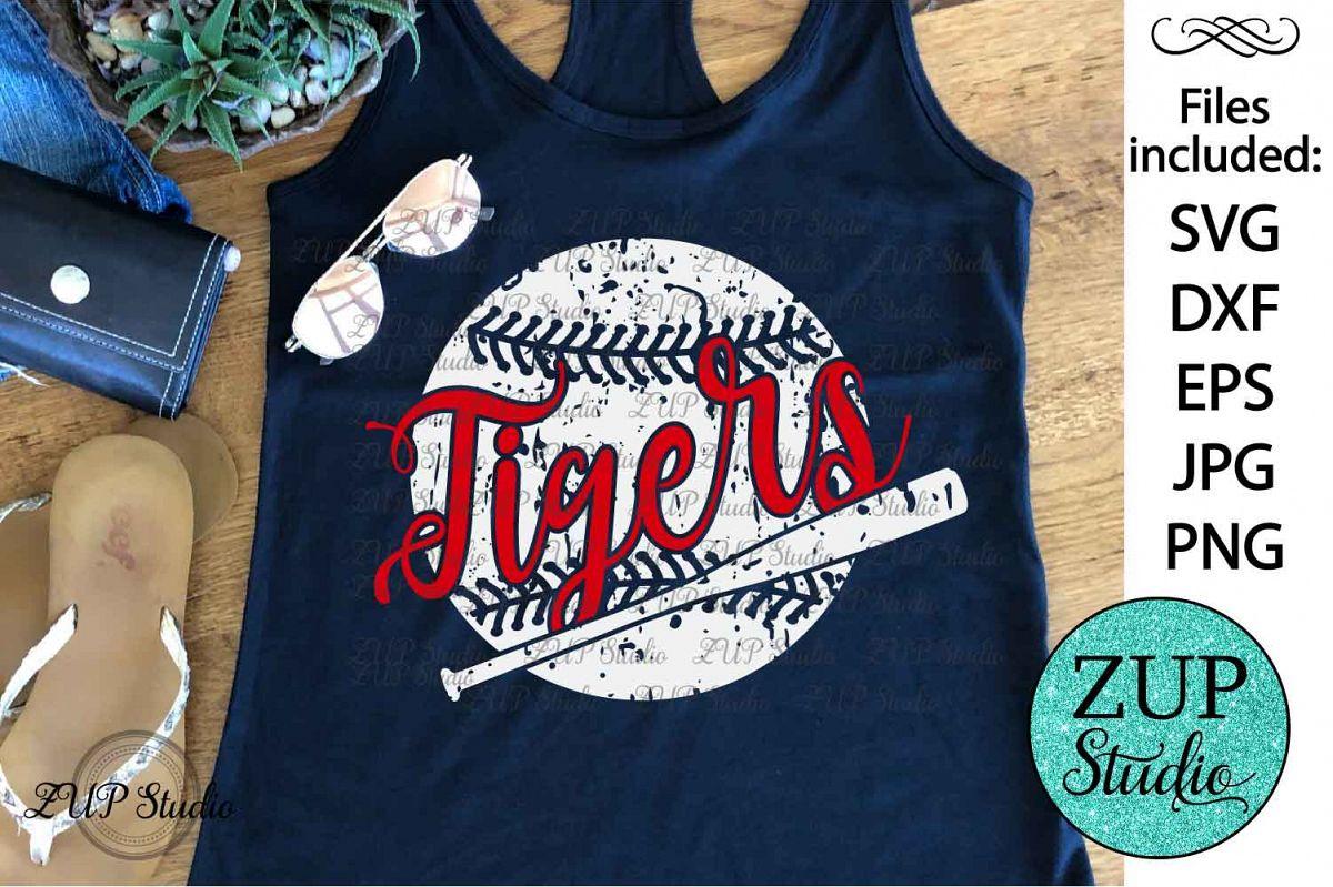Tigers Baseball Digital Cutting files svg file 239 example image 1