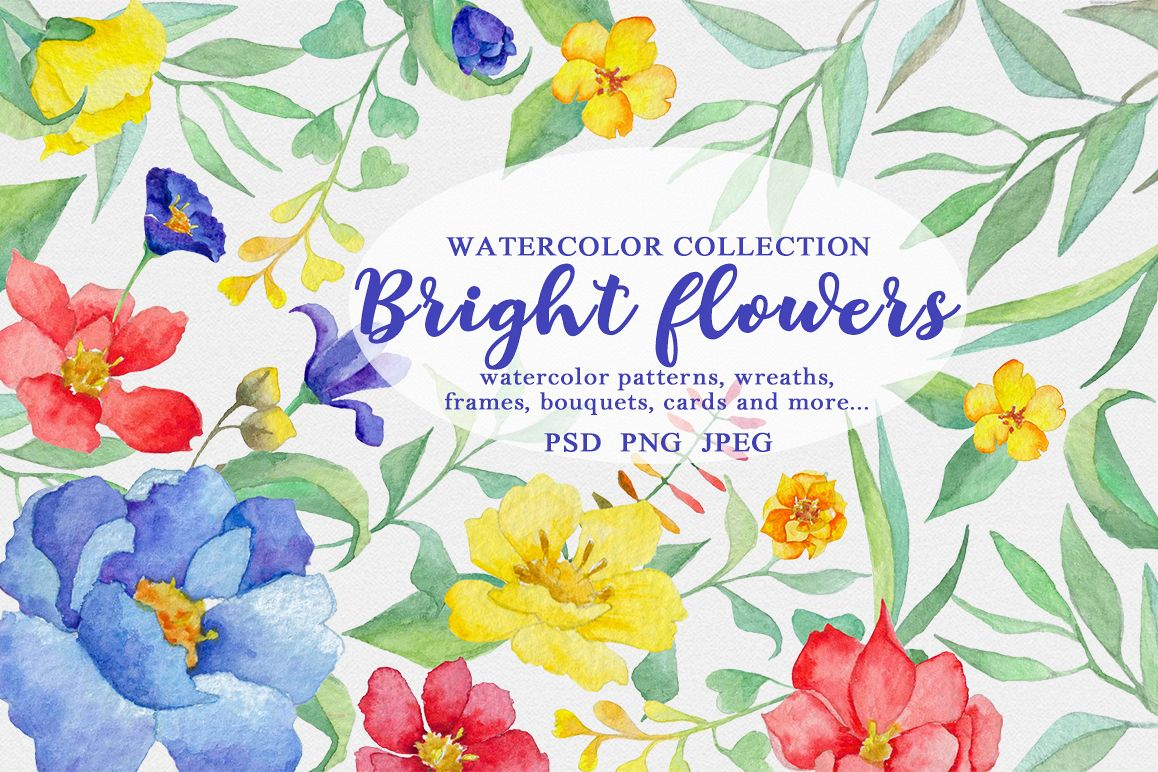 Bright flowers example image 1