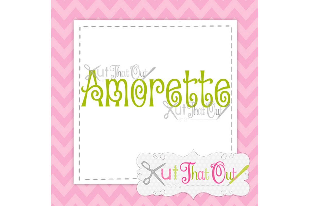 EXCLUSIVE Amorette Font SVG & DXF Cut File example image 1