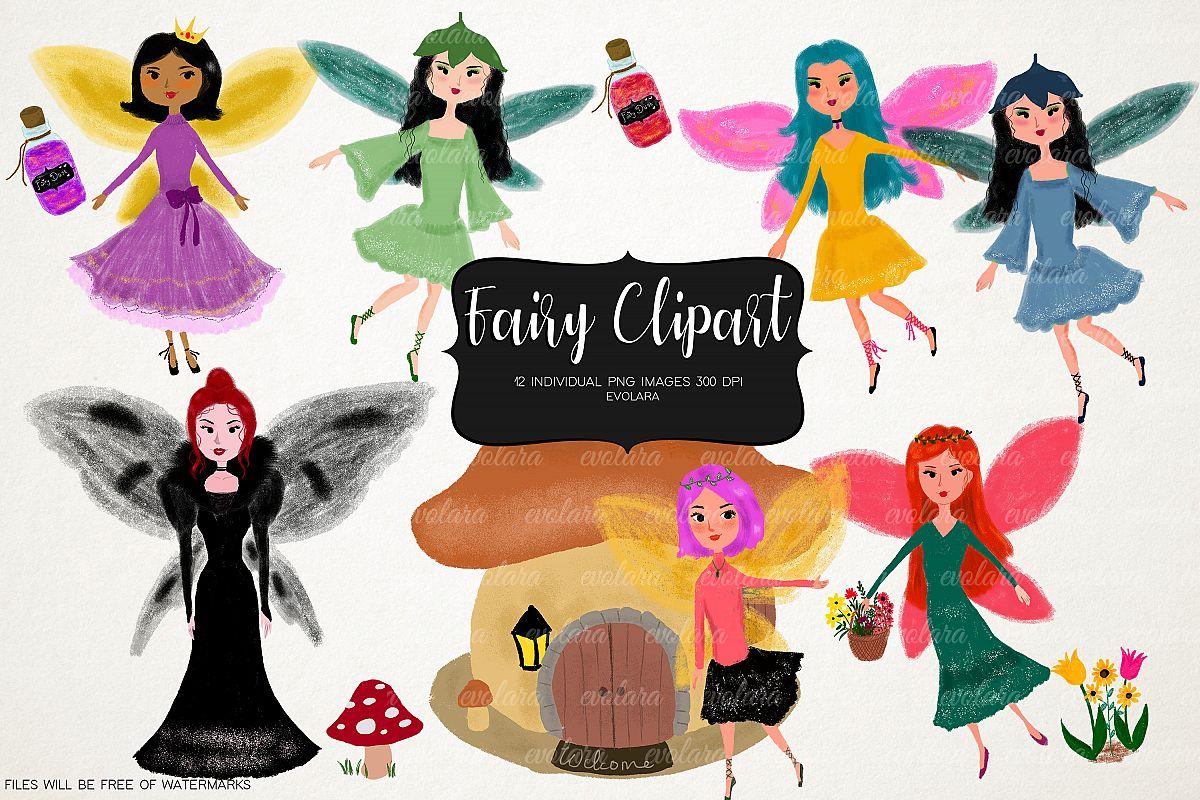 Fairy Clipart Fairies Clipart Cute Fairytale Floral Nursery example image 1
