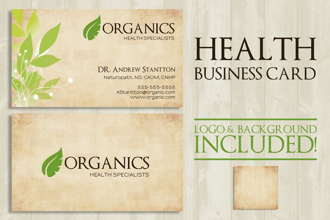 Health Business Card example image 1