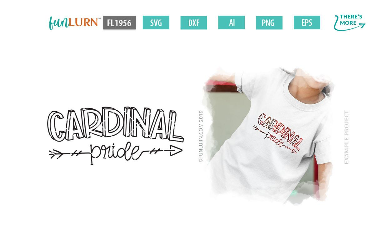 Cardinal Pride Team SVG Cut File example image 1