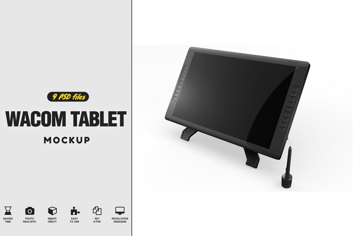 Wacom Graphic Screen Tablet Mockup example image 1