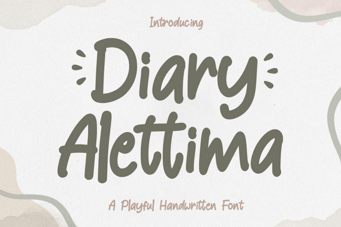 Diary Alettima example image 1