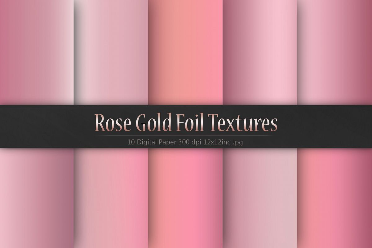 Rose Gold Foil Textures example image 1