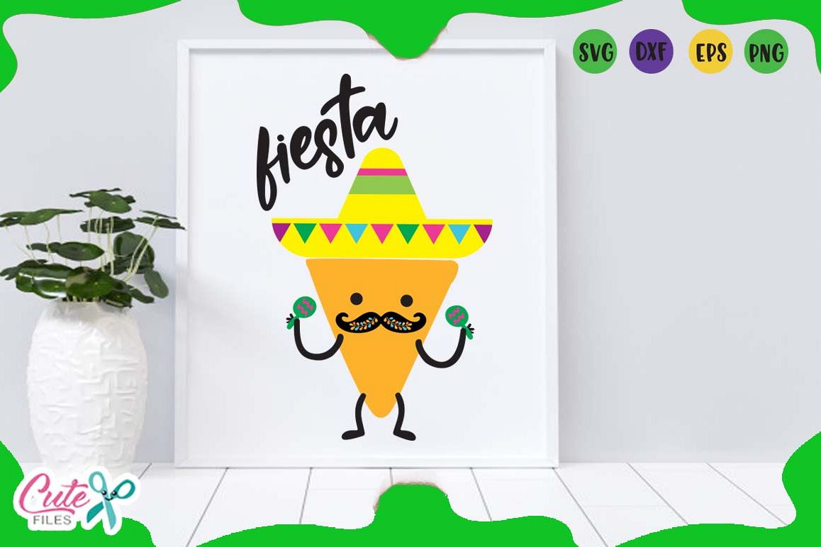 Fiesta chips, Cinco de mayo, svg mexican saying for crafter example image 1