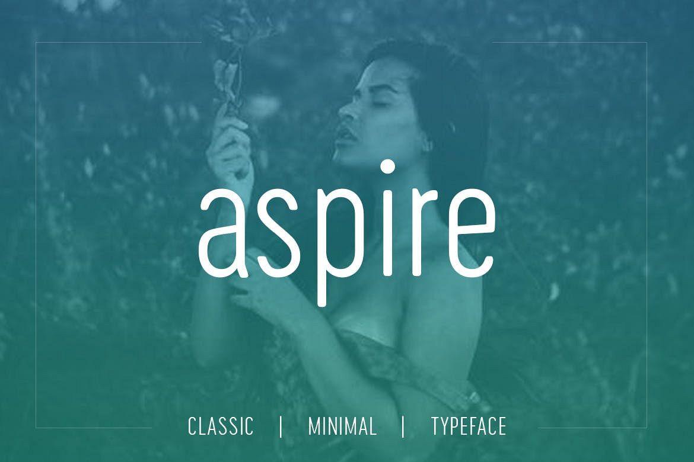 Aspire Sans - Modern Typeface WebFont example image 1