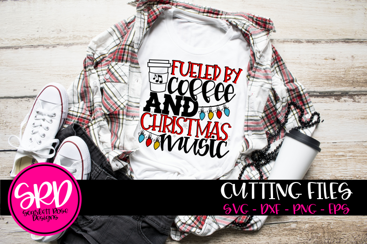 Fueled by Coffee and Christmas Music SVG example image 1