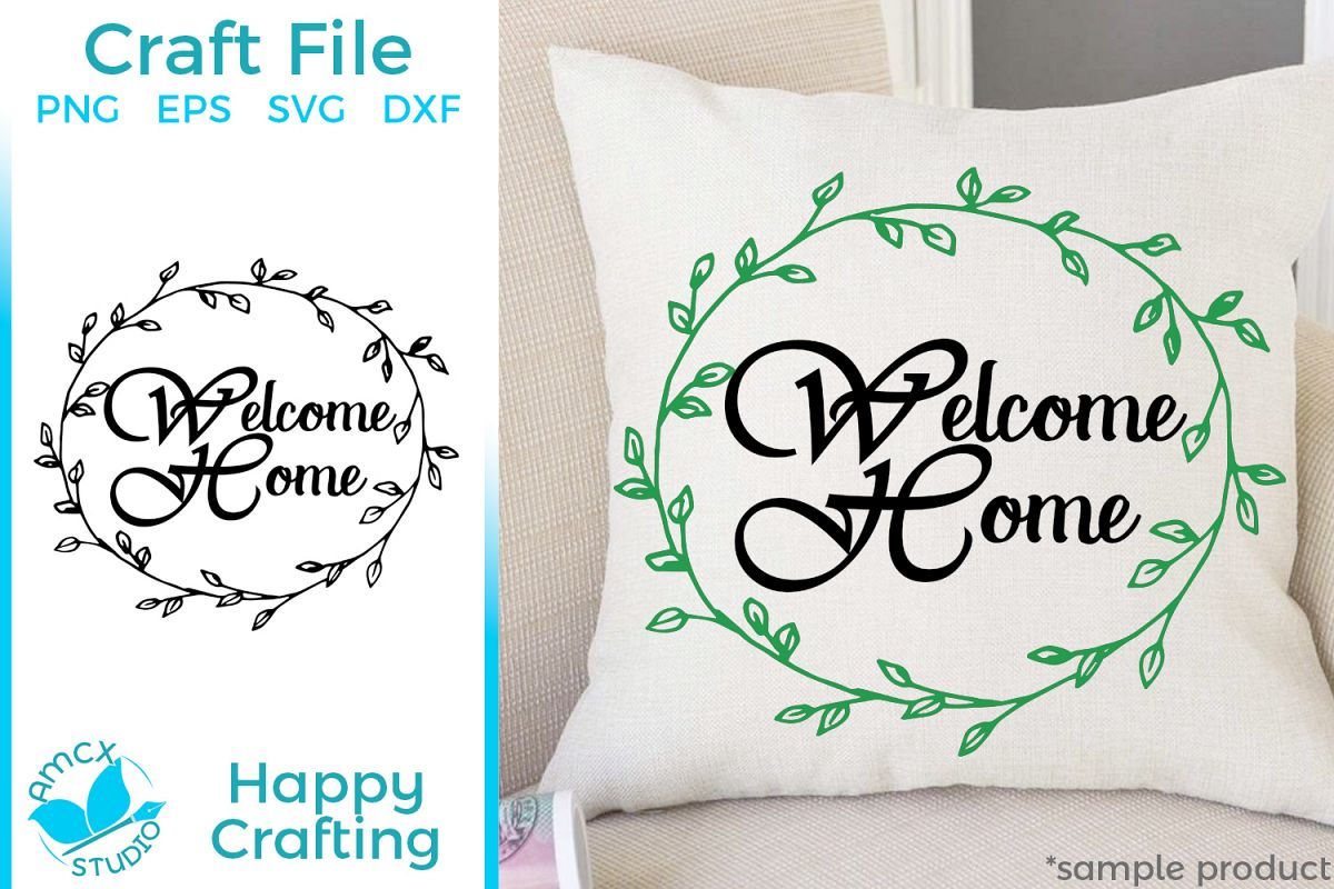 Welcome Home - Home decor craft file example image 1