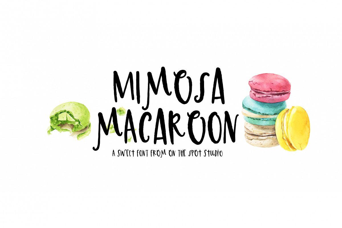 Mimosa Macaroon example image 1