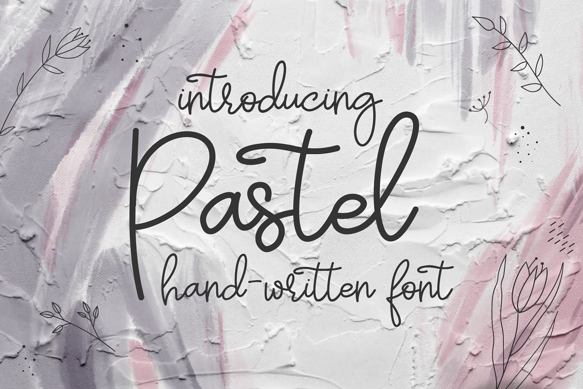 Pastel | hand-written font example image 1
