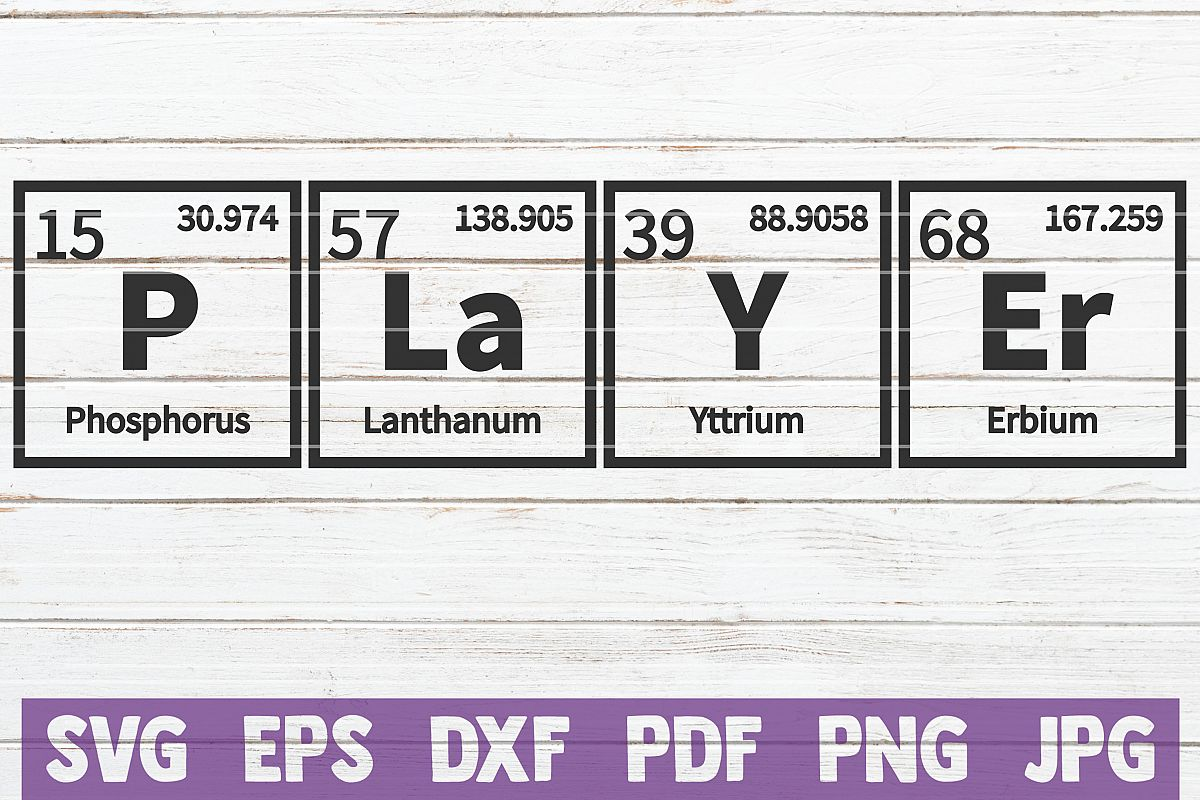 Player Periodic Table SVG Cut File | commercial use example image 1