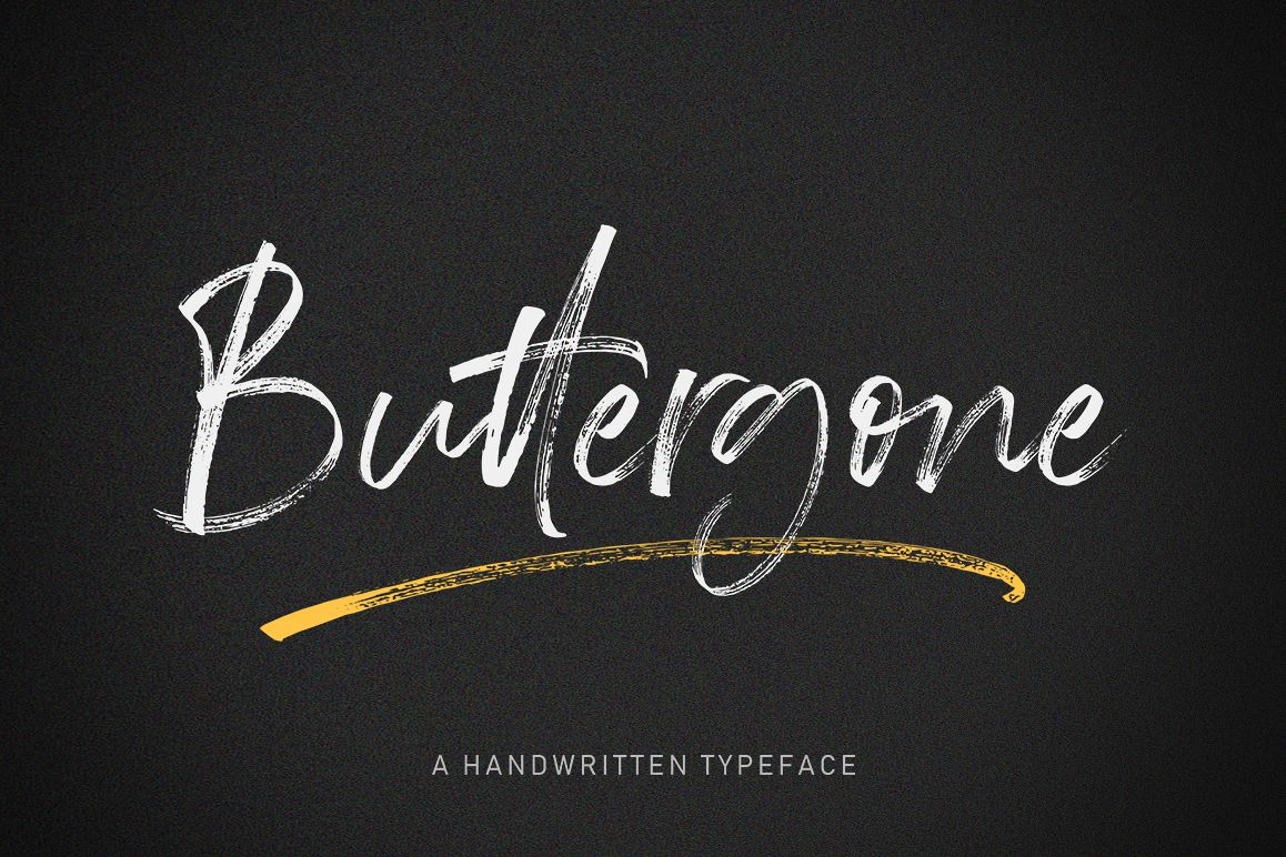 Buttergone Brush Font example image 1