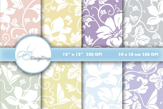 Digital papers Floral example image 1