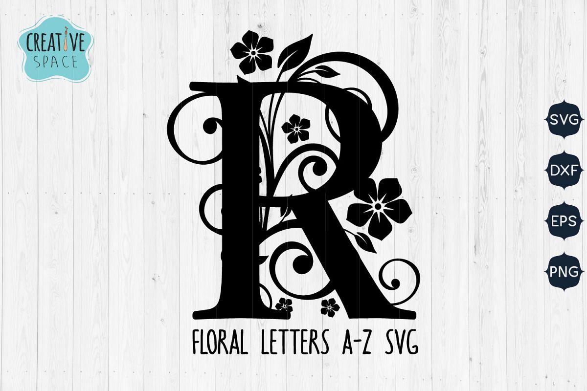 A-Z Floral Letters SVG Bundle, Floral Letters Svg