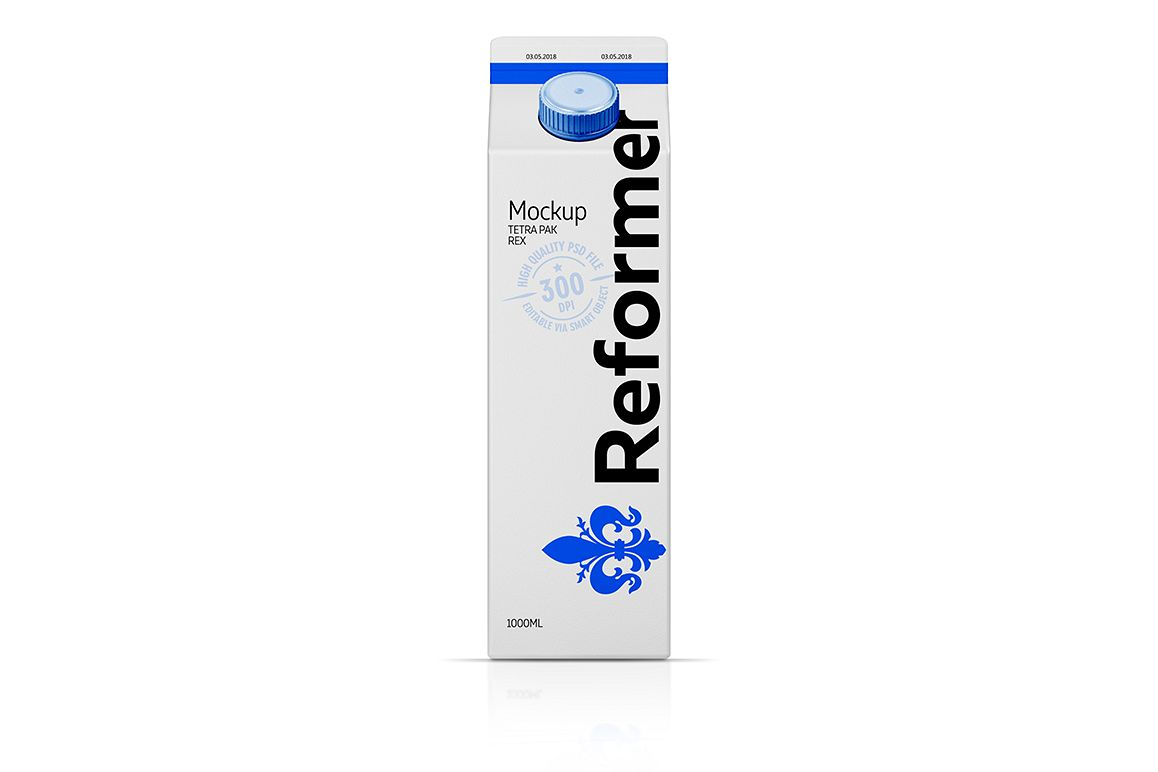 Mockup Package carton TETRA PAK REX 1000ML example image 1