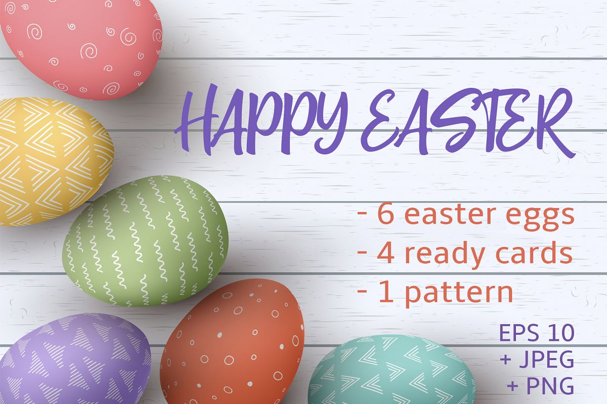 Happy Easter cards collection example image 1