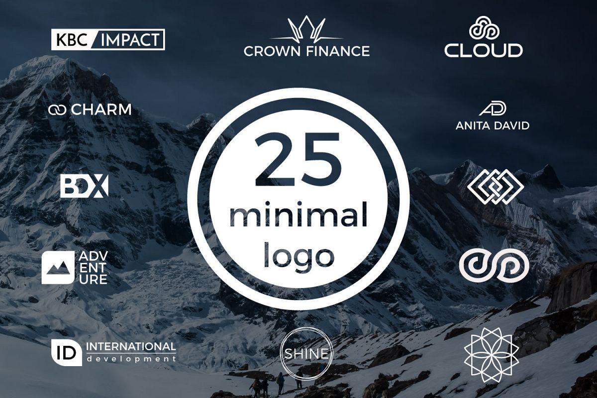25 minimal logos Bundle example image 1