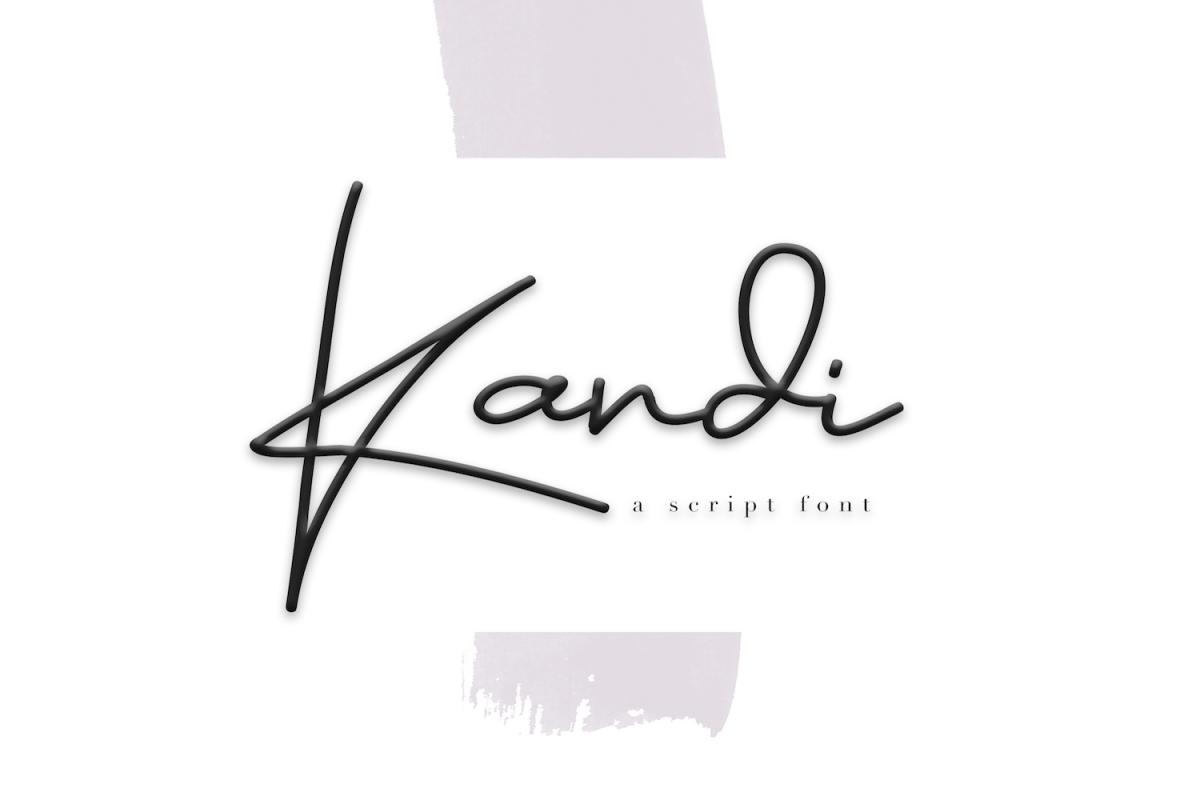 Kandi - A Handwritten Signature Font example image 1