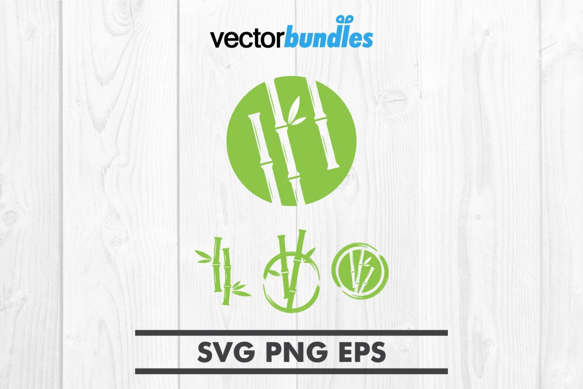 Bamboo clip art svg example image 1