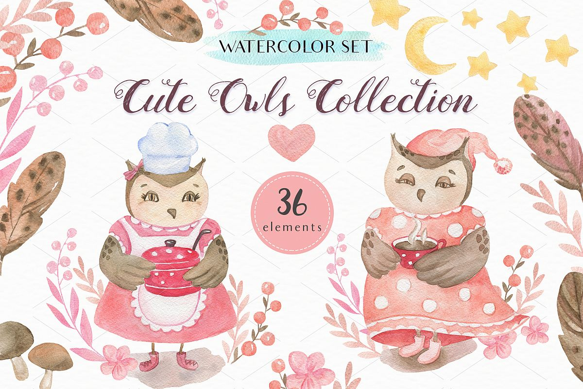 Cute Owls Collection example image 1