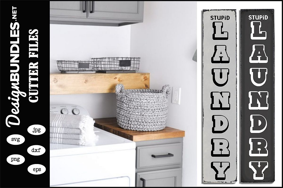 Stupid Laundry Vertical SVG example image 1