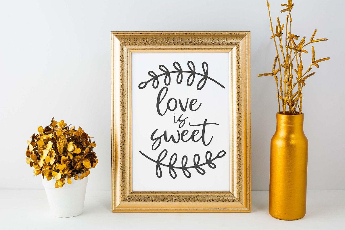 Love Is Sweet   Wedding  Wedding SVG Cut File example image 1