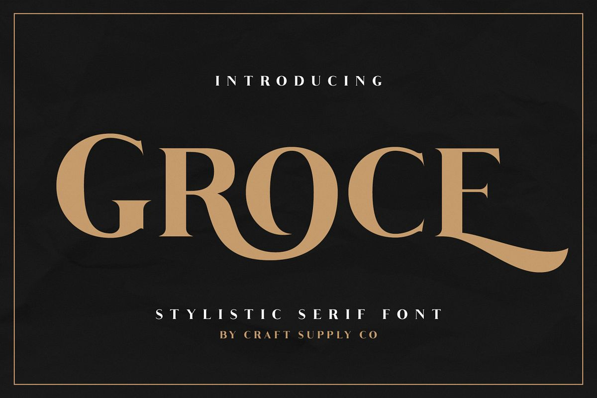 Groce - Stylistic Serif Font example image 1