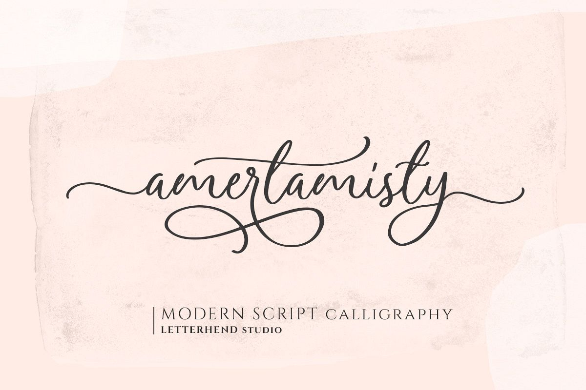 Amerta Misty Script example image 1
