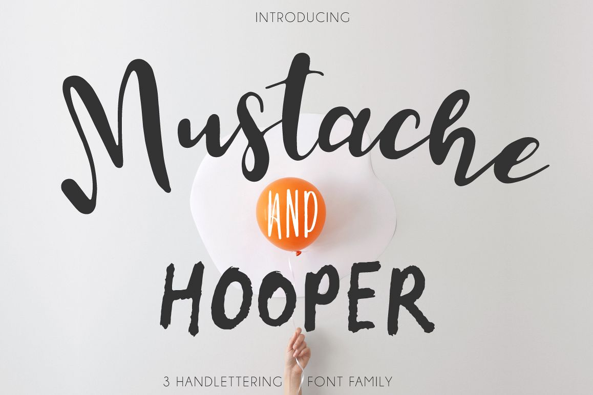 Mustache Pack [3 Fonts] example image 1
