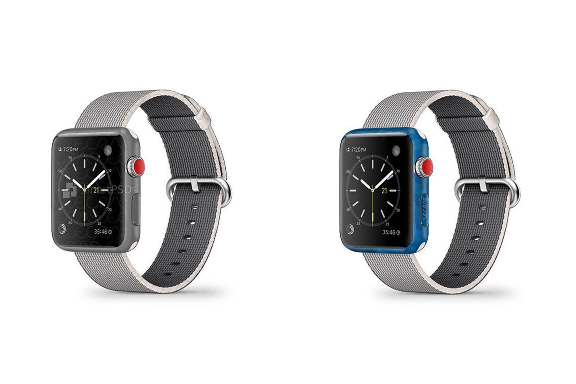 Apple Watch 38 mm Series 3 Vinyl Skin Design Mockup 2017 example image 1