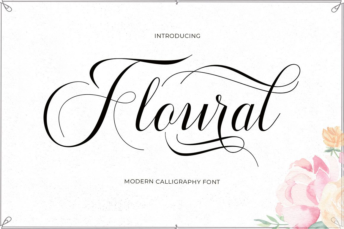 Floural Script example image 1