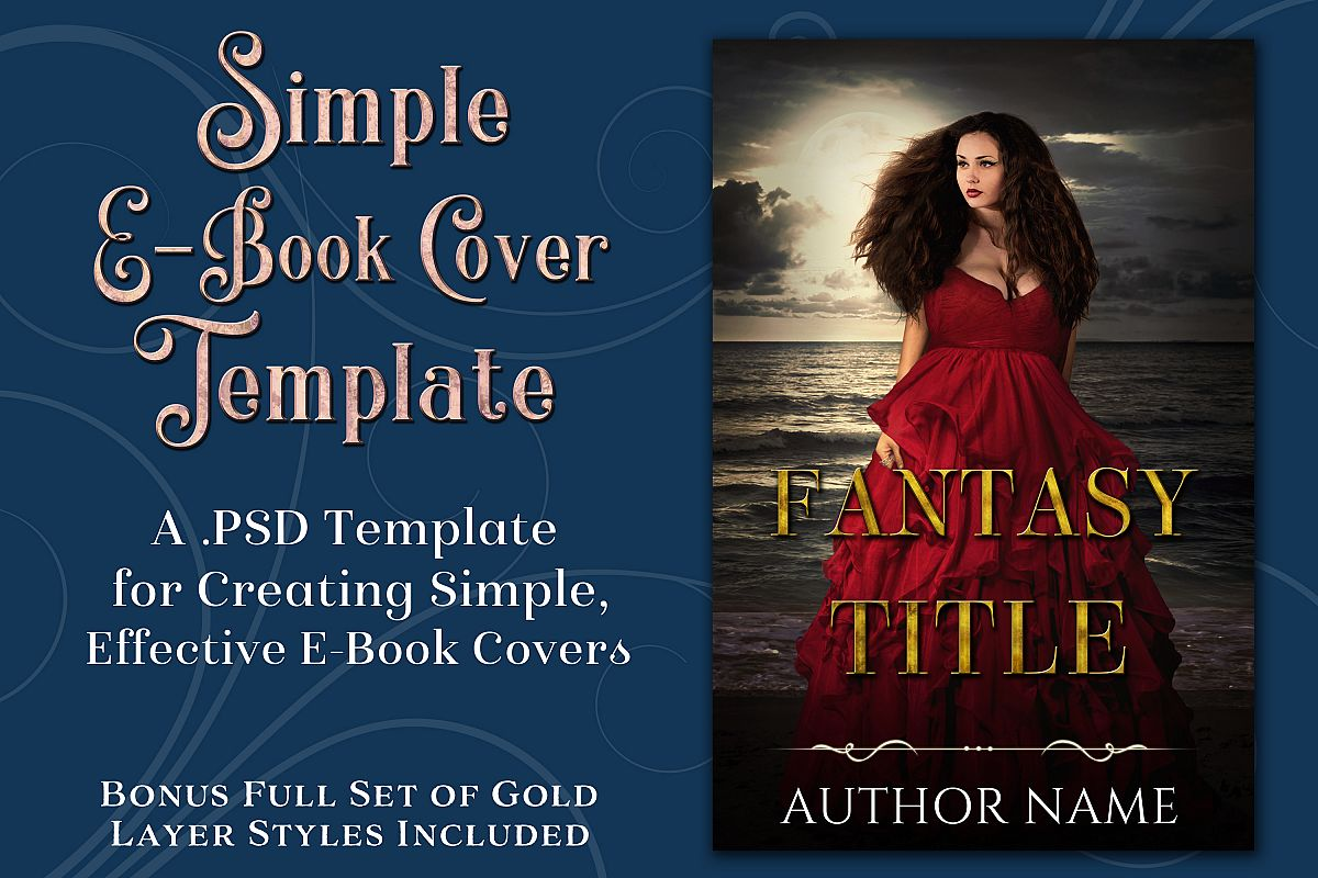 Simple PSD E-Book Cover Template - Bonus Layer Styles example image 1
