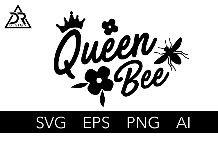 Queen Bee SVG Cut File example image 1