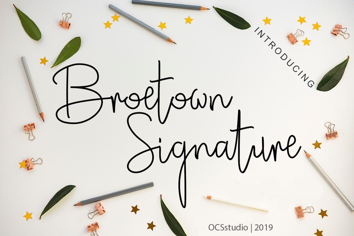 Broetown Signature example image 1