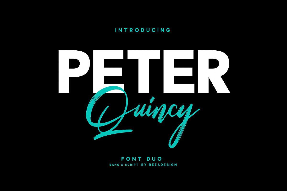 Peter Quincy - Font Duo example image 1