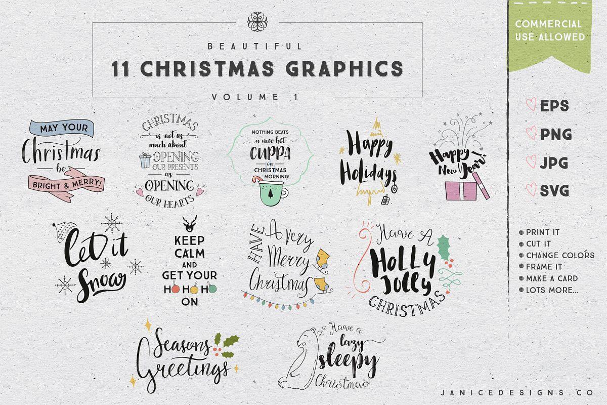 11 Christmas Graphics Vol. 1 example image 1