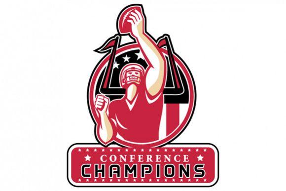Football Conference Champions Atlanta Retro example image 1