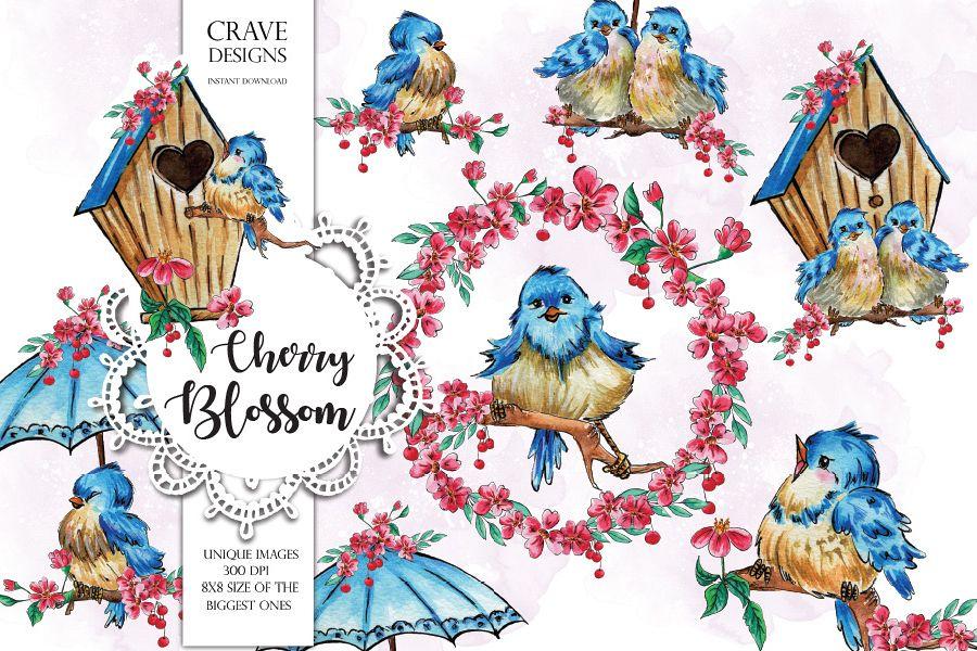 Cherry Blossom Clip Art example image 1