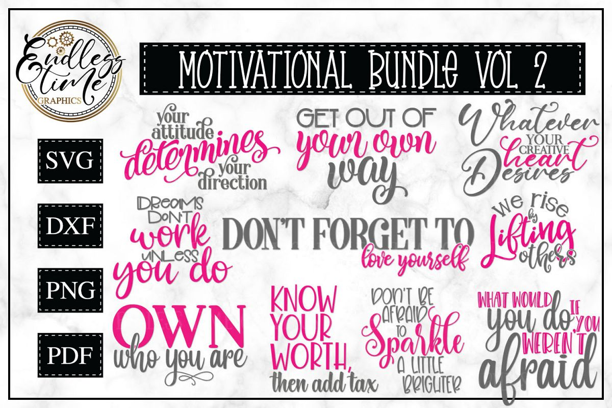 Motivational Bundle Volume 2 - Set of 10 Motivational Quotes example image 1