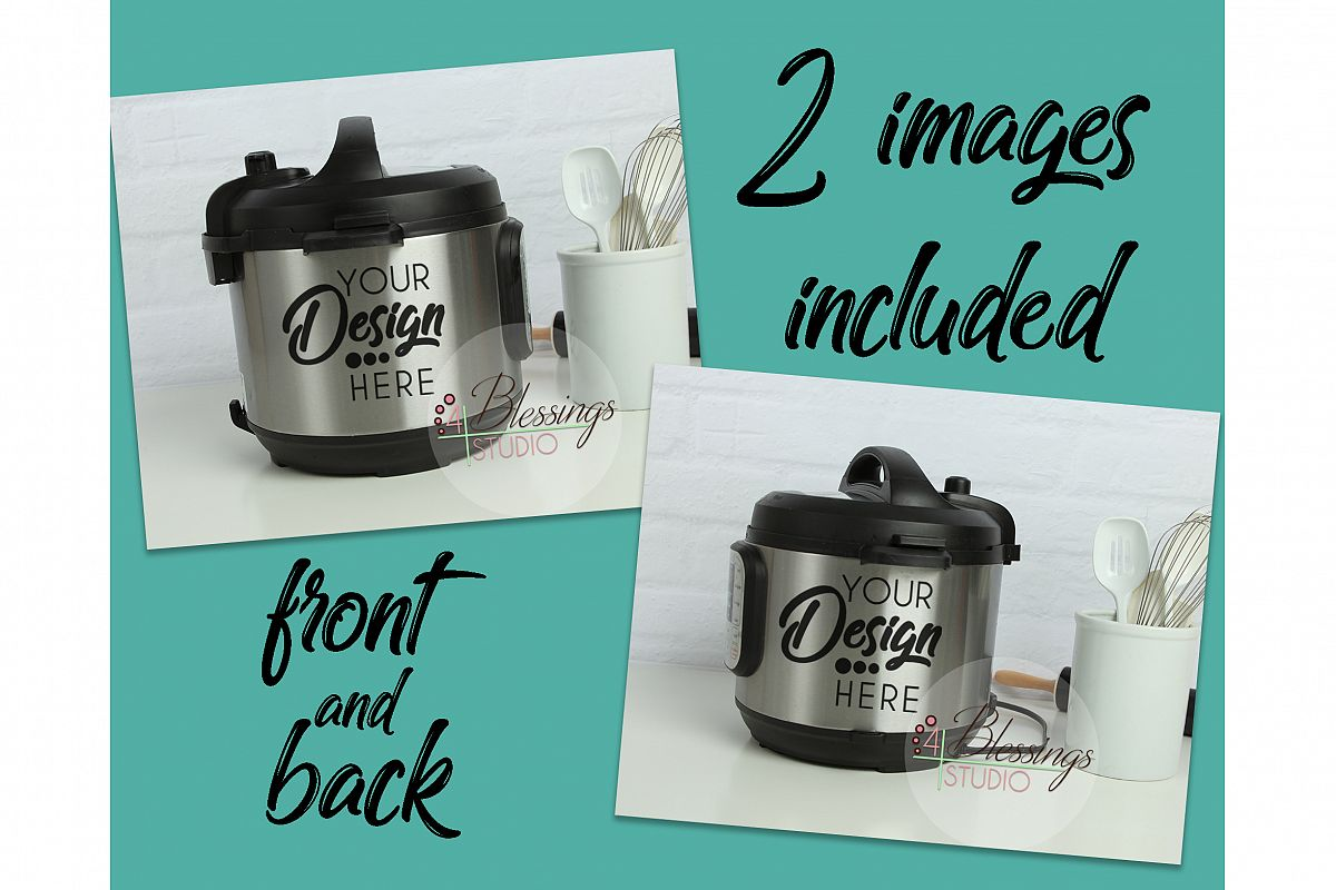 Instant Pot Mockup Photo Instapot Decal | Design Bundles