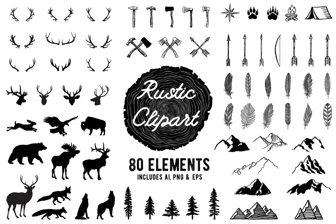 Rustic Clipart Volume 1
